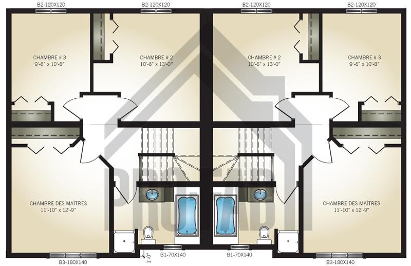 Ideal plan deuxieme etage