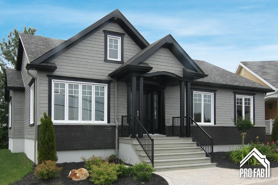Pro fab constructeur de maisons modulaires usin es pr fabriqu es mod le saint laurent for Modele de maison de luxe