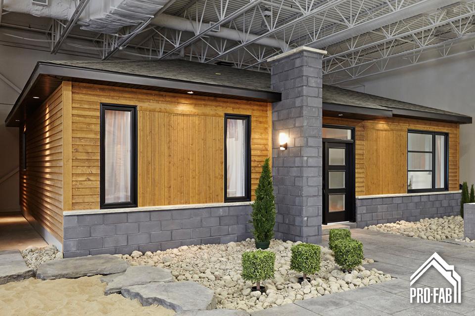Pro fab constructeur de maisons modulaires usin es pr fabriqu es mod le moka for Maison profab prix