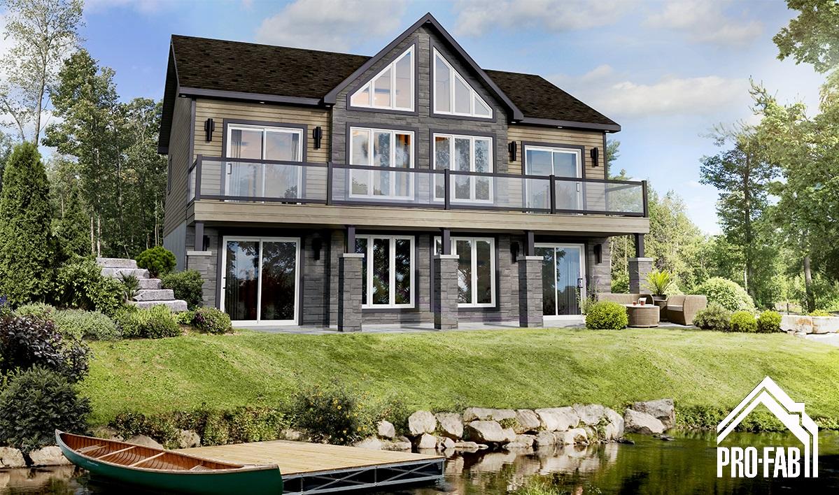 Pro fab constructeur de maisons modulaires usin es pr fabriqu es mod le merle for Maison modele profab