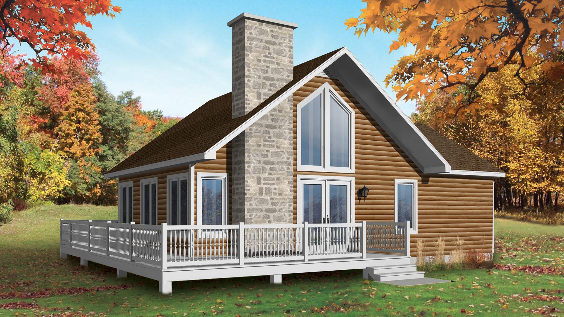 Mod le cormoran maison vill giature chalets pro fab constructeur de maisons modulaires et for Maison modele profab