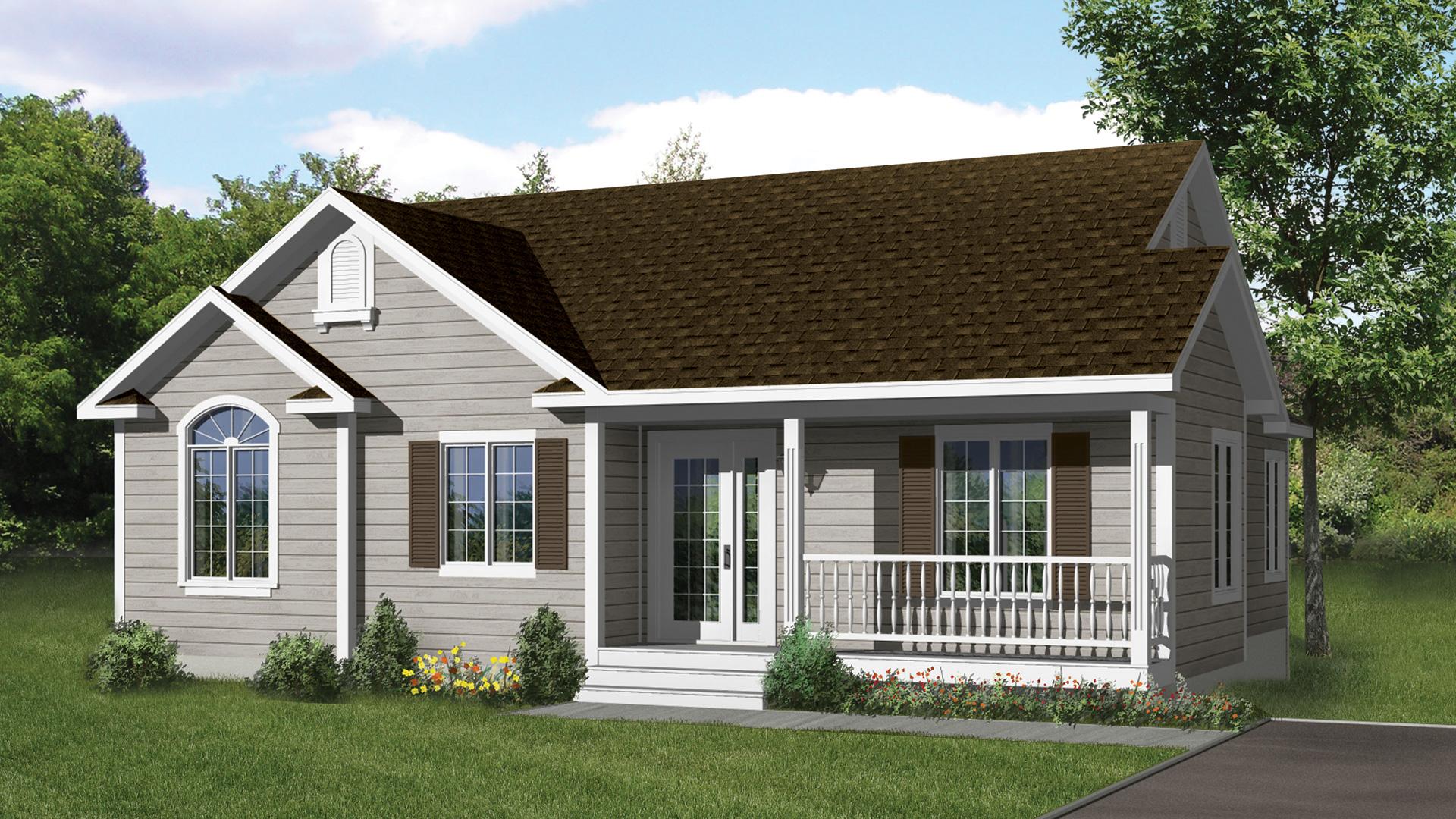Mod le l gante maison champ tre pro fab constructeur for Modele maison champetre