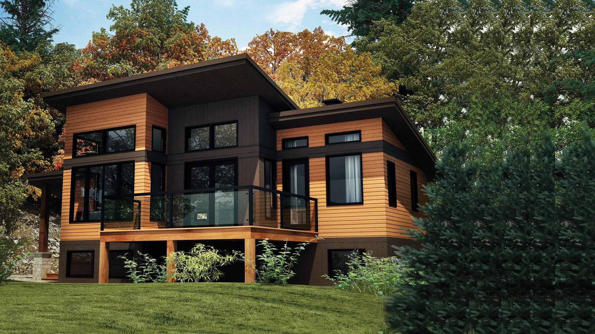 mod le panorama maison vill giature chalets pro fab constructeur de maisons modulaires et. Black Bedroom Furniture Sets. Home Design Ideas