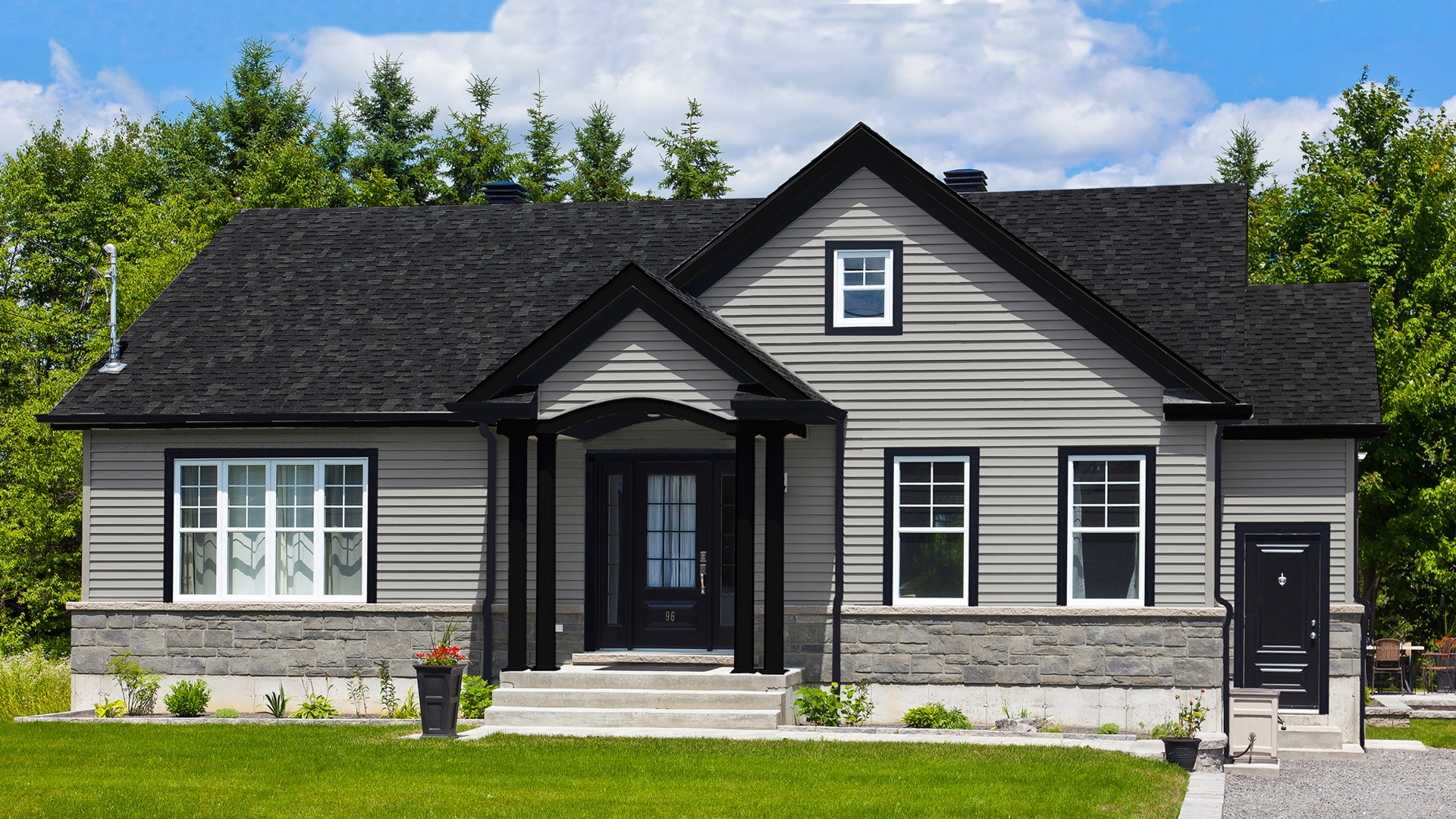 Mod le saint laurent maison de style tradition pro fab constructeur de maisons modulaires et for Maison modele profab