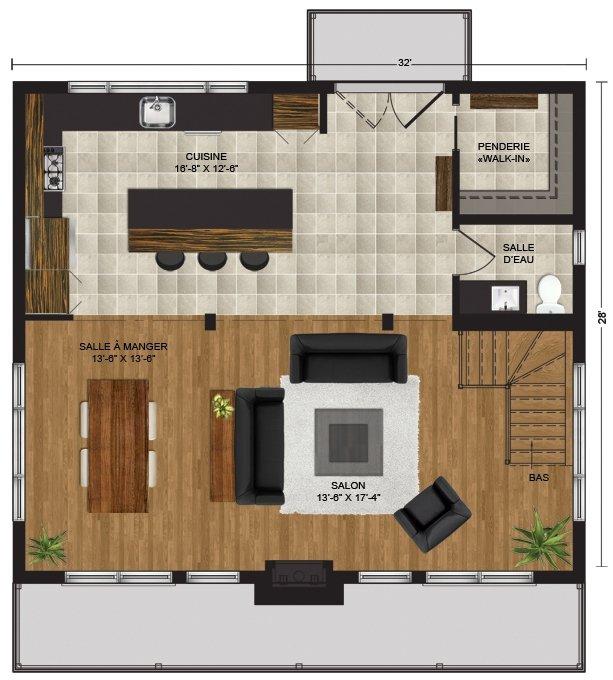 Mod le horizon maison vill giature chalets pro fab constructeur de maisons modulaires et for Maison modele profab