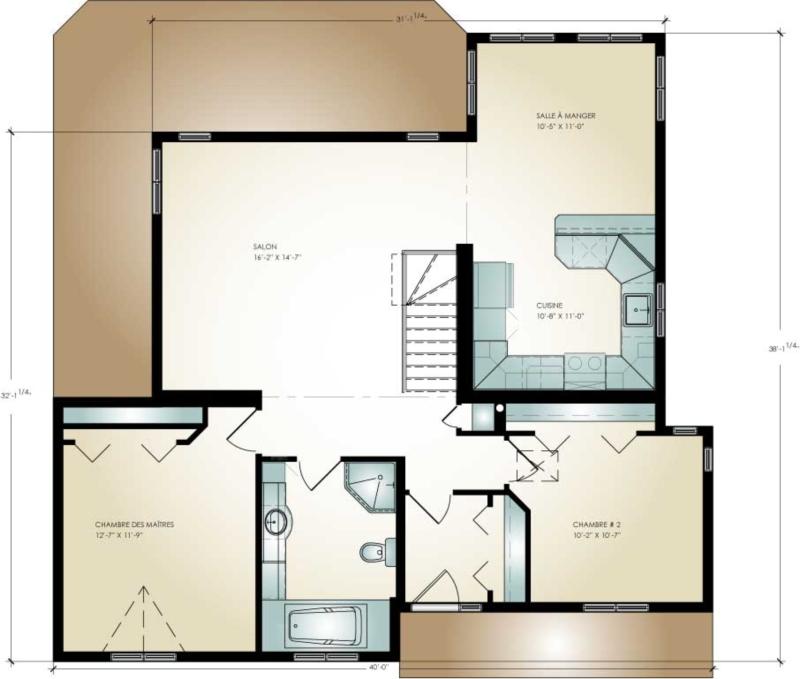 Amazing maison modulaire lgante inverser les plans with plan maison modulaire for Maison profab prix