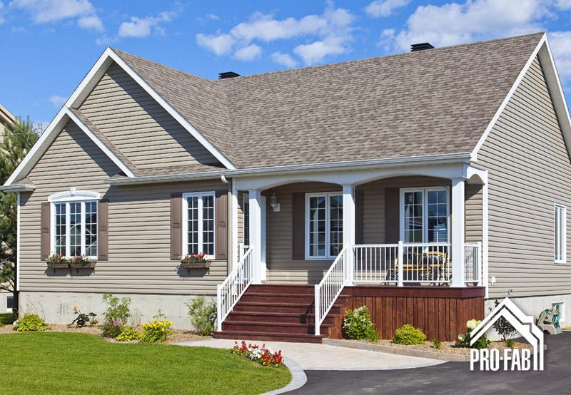 Pro fab constructeur de maisons modulaires usin es pr fabriqu es mod le meraude for Maison profab prix