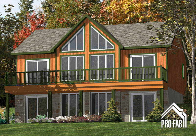 Pro fab modular manufactured prefabricated home builder merle model for Maison modele profab