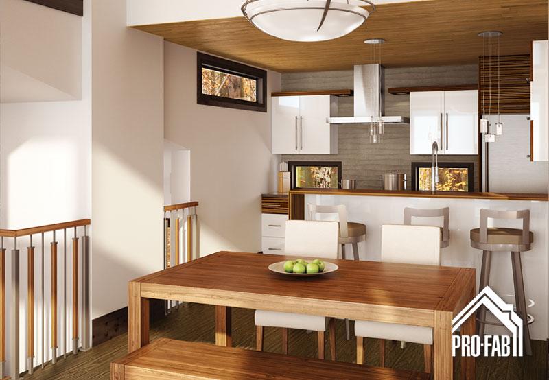 Pro fab constructeur de maisons modulaires usin es pr fabriqu es mod le panorama for Maison profab prix