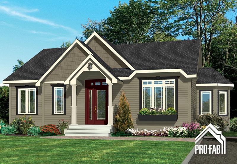 Pro fab constructeur de maisons modulaires usin es pr fabriqu es mod le rubis for Maison modele profab