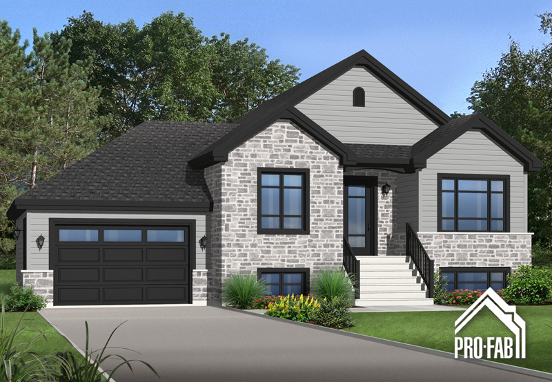 Pro fab constructeur de maisons modulaires usin es pr fabriqu es mod le oeillet for Maison modele profab