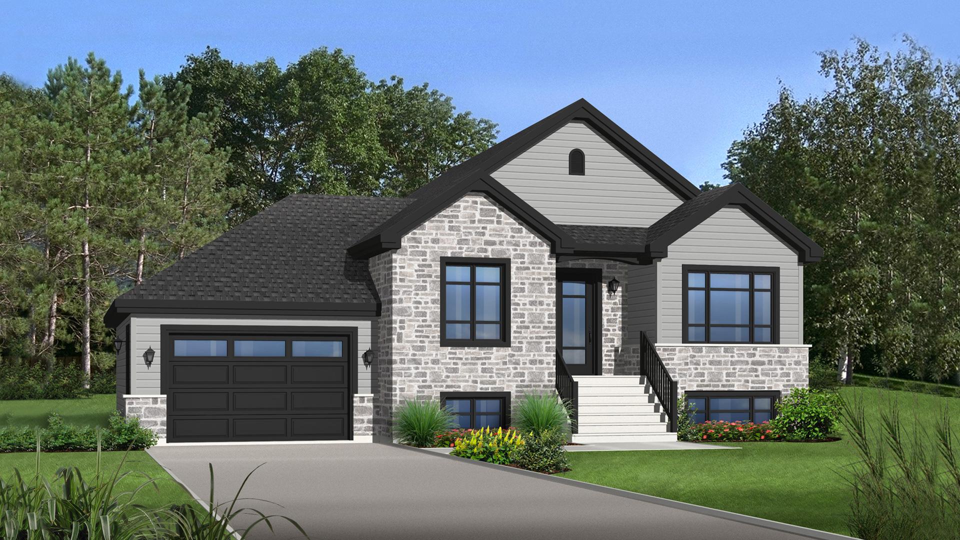 Mod le oeillet maison de style tradition pro fab constructeur de maisons modulaires et usin es for Maison modele profab