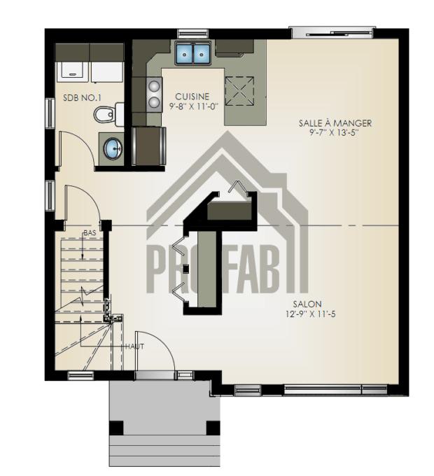 PRO-FAB - Plan rez-de-chaussée Modèle Luxura