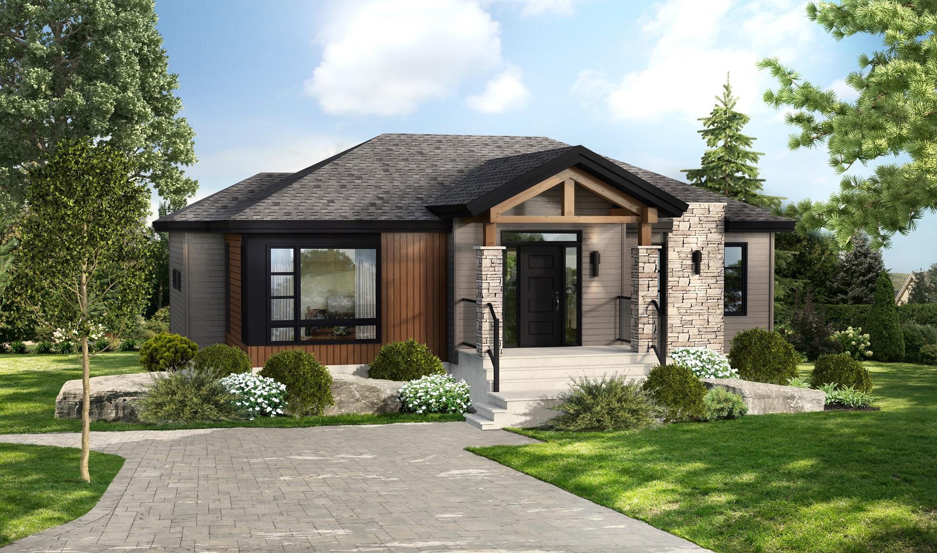 Mod le urbana maison contemporaine et moderne pro fab constructeur de maisons modulaires for Maison modele profab
